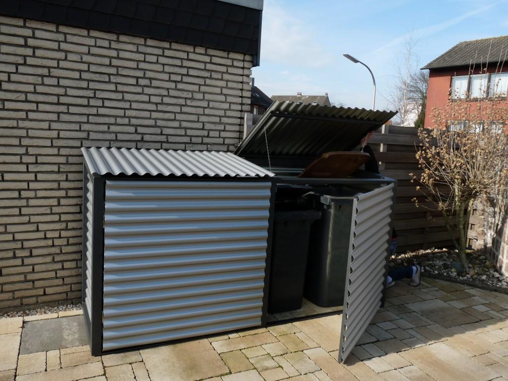 Mülltonnenaufbewahrung offen Beispiel - Waldemar Zilich